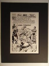 '92 MARVEL SUPER-HEROES 80Pg SUMMER SPECIAL # 10 COVER PRODUCTION ART SABRETOOTH