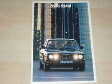 62901) BMW 524d 524td E28 Prospekt 02/1987
