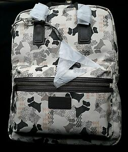 RADLEY 'Data Dog' Medium Oilskin Grey Rucksack/Backpack Grab Bag- NWT