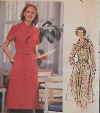 Lovely VTG 70s BUTTERICK 5504 MS Princess Seam Dress & Scarf PATTERN 10/32.5B