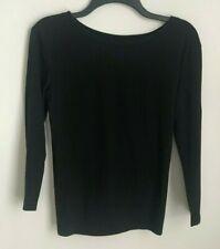 New J. Crew XS Black Twist Back Long Sleeve T-Shirt