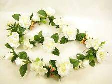 170cm Wedding Artificial Silk Flower Cream Rose Hydrangea Hypericum Garland