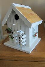 Bird House White Wood Country Cottage