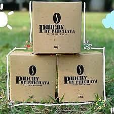 3xPeachy Soap Coffee Scrub Soap Phichy By Phichaya 50 gm.