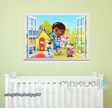 Disney Doc McStuffins 3D Window Vinyl Wall decor Stickers Art Prints Kids Gift