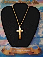 "Men Fashion Gold Plated Pendant W/ Gold 23"" Rolo Chain"