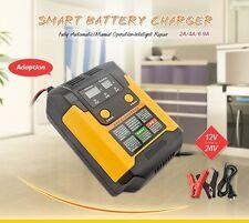 12V/24V Smart Lead Acid Battery Charger for car Motorcycles LCD Display 220V AC