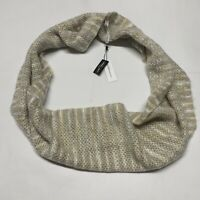 BCBGeneration Womens Infinity Loop Scarf Neutral Colors Tan Fuzzy Knit NWT Light