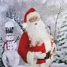 Christmas Background Snowman  9ft x 9ft  Hand Painted Muslin Steve Kaeser