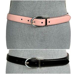 LAUREN Sz M/L 36 Ralph Lauren Reversible Pink/Black Smooth Leather Classic Belt