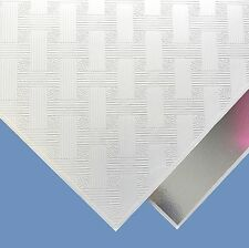 SUSPENDED VINYL LAMINATED WHITE CEILING TILES 595x595 24/15 GRID 6 Tiles / BOX