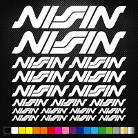 compatible NISSIN 19 Stickers Autocollants Adhésifs Auto Moto  Sponsor Marques