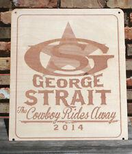 George Strait Cowboy Rides Away Custom Wood Sign