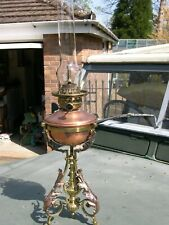 RARE DANIEL DEFRIES PATENT SAFETY CENTRE DRAUGHT KEROSENE OIL LAMP COMPLETE.