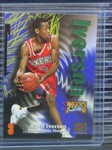 1997-98 Skybox Z-Force Allen Iverson #100 76ers Z345