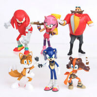 6 Sonic Boom Sonic the Hedgehog Dr Eggman Action Figure set Doll Toy Cake Topper