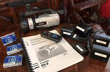 Canon Dm-Gl2A Mini Digital Video Camcorder w/ Accessories Ac 4 Batteries 3 Tapes