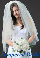 Ivory Flower beaded 2 layer Bridal Wedding Veil Headpiece