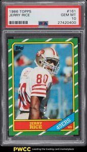 1986 Topps Football Jerry Rice ROOKIE RC #161 PSA 10 GEM MINT
