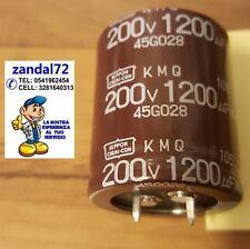 CONDENSATORE  ELETTROLITICO VERTICALE 1200uF 200V 200 VOLT 105° 30x35 PASSO 10mm