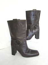 Russell & Bromley Women's 100% Leather Casual Pull on Boots