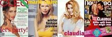 Claudia Schiffer Model Star Celebrity Import Magazine Covers clippings set