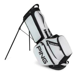 Brand New 2021 Ping Hoofer Tour Stand Bag White / Black 5-way Top