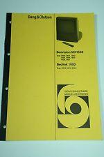 Bang & Olufsen Beovision MX1500 / Beolink 1000 Service Manual