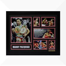 Manny Pacquiao Signed & Framed Memorabilia - Black/Red Limited Edition - Boxing