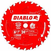 Freud D0624X Diablo 6-1/2-Inch 24-Tooth ATB Framing Saw Blade with 5/8-Inch Arbo