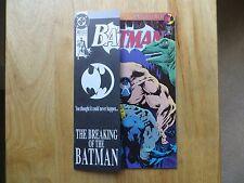 1993 BATMAN # 497 BANE BREAKS BACK SIGNED 2X JIM APARO & DICK GIORDANO WITH POA