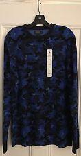 Authentic Polo Ralph Lauren blue camo shirt large L Supreme