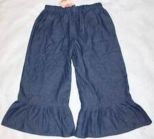 Nwt Boutique Dreamspun Soft Lightweight Denim Capri Ruffle Pants 8 Yrs