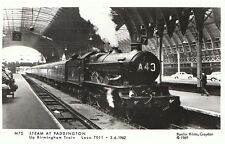 Railway Postcard - Steam at Paddington - Up Birmingham Train - 5.6.1962 -  U750