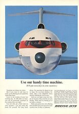 1966 Boeing Jet Plane flying in Air  Front View PRINT AD