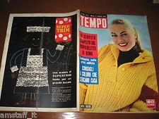 RIVISTA TEMPO 1959/5=ANITA EKBERG=GALLERIA MONTE BIANCO=BRIGITTE BARDOT=