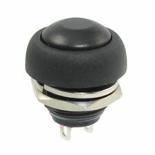 New 12mm Black OFF (ON) Push Button Horn Switch Horn Button fu