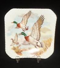 Vintage Royal Adderley Floral Mallard Duck Flight Teabag Tray Japan Lodge Decor