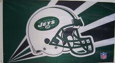 NEW YORK JETS HELMET NEW 3ftx5ft LISCENSED NFL FOOTBALL BANNER FLAG