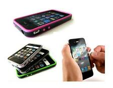 COVER  RIGIDA CUSTODIA BUMPER PER IPHONE4 + 2 PELLICOLA