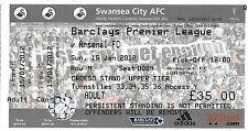 Football ticket > Swansea City V Arsenal JAN 2012