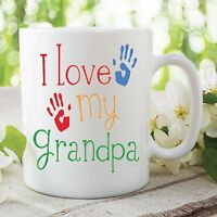 I Love My Grandpa Kids Printed Mug Mother's Day Gift Work Coffee Cup WSDMUG371