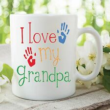 I Love My Grandpa Kids Printed Mug Mother's Day Gift Work Coffee Cup WSDMUG371