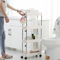 Hot Slim Storage Kitchen Bathroom Laundry Storage Trolley Rack Wheel Space  D