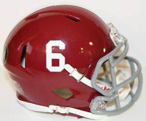 2020 DeVonta Smith Alabama Crimson Tide Heisman Custom Riddell Mini Helmet