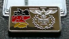CLEARANCE COLLECTABLE SILVER PLATED GERMAN IRON CROSS TERRITORY BULLION BAR 󾓨