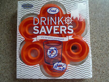 NEW Lot of 3 - Fred Drink Savers Silicone Life Ring Beach Party Ice Cube Tray