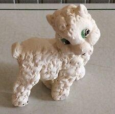Vintage Chalkware Small White Lamb Figurine