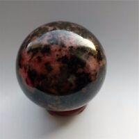 Rhodonite Crystal Sphere Ball Rhodonite gemstone Polished Sphere Ball 55mm