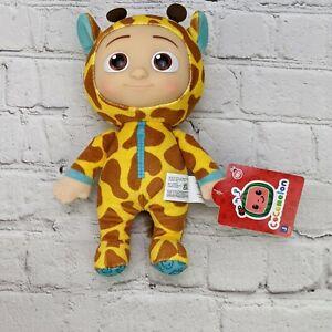 "Cocomelon 8"" JJ Giraffe Baby Doll Animal Hoodie PJ Pajama Stuffed Plush Toy NEW"
